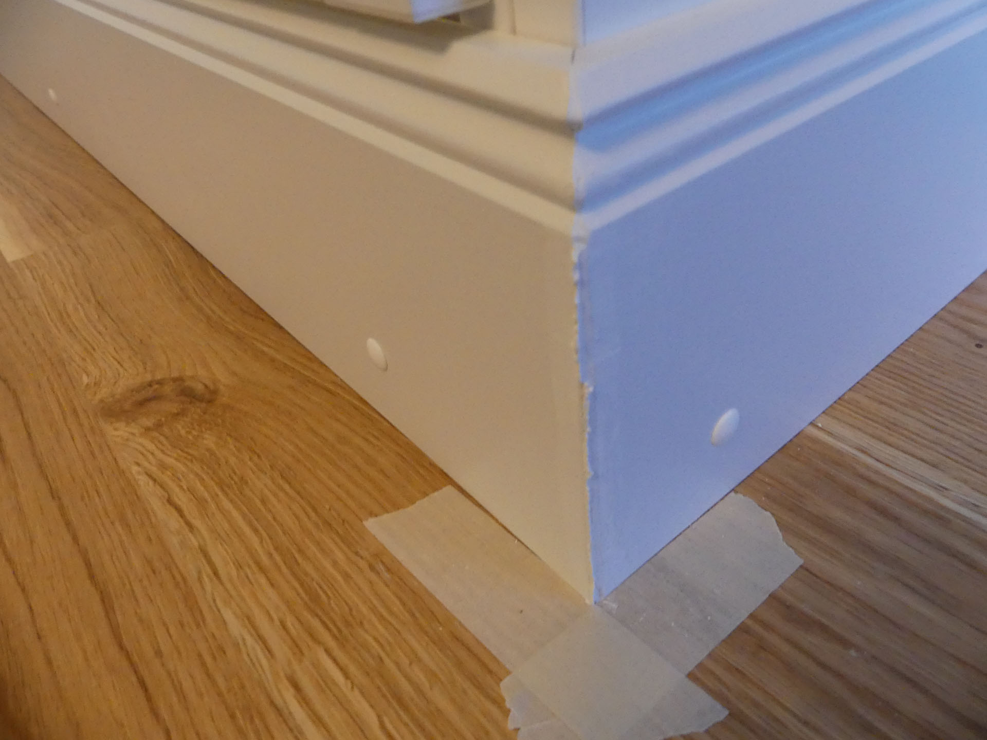 Step 9 Installing The Baseboard The Ikea Billy Project
